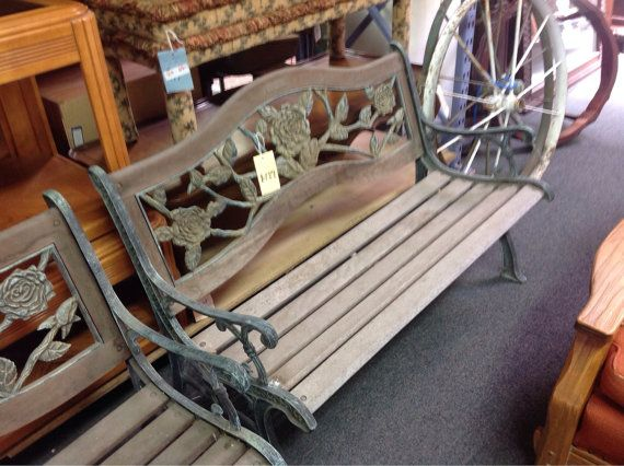 Outdoor Cast Iron Bench By Berkeley Forge Thriftcityfurniture 189 00