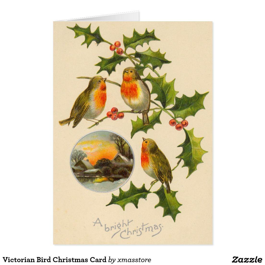 Victorian Bird Christmas Card | Holidays | Pinterest | Christmas ...