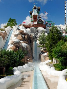 The First Thing You See When Enter Blizzard Beach Is 90 Foot Snowced Mount