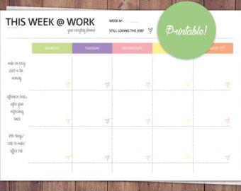 The Office Organizer EDITABLE Work planner by FreshandOrganized