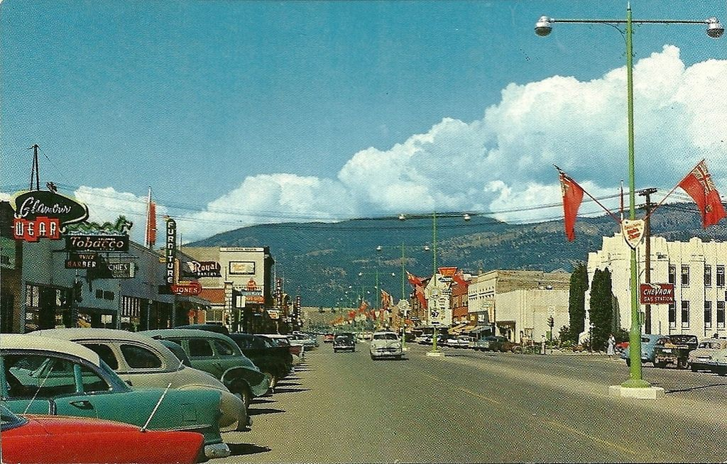 Postcard Kelowna Bc 1957 West Coast Canada Old Pictures