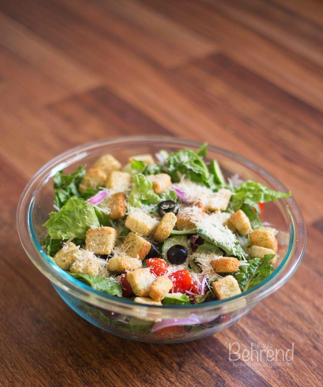 DIY Olive Garden Salad Homemade snacks, Olive garden