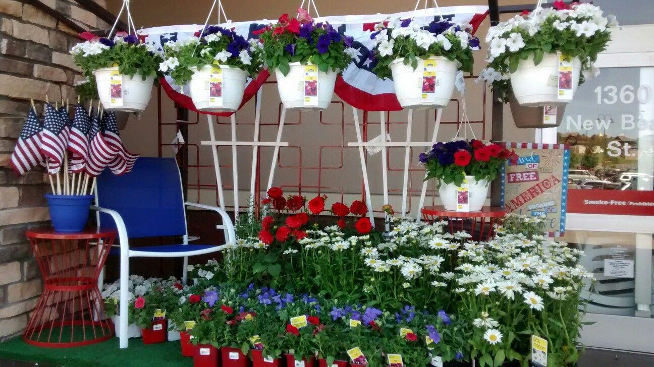 Lowe's July 4th garden display Garden center displays