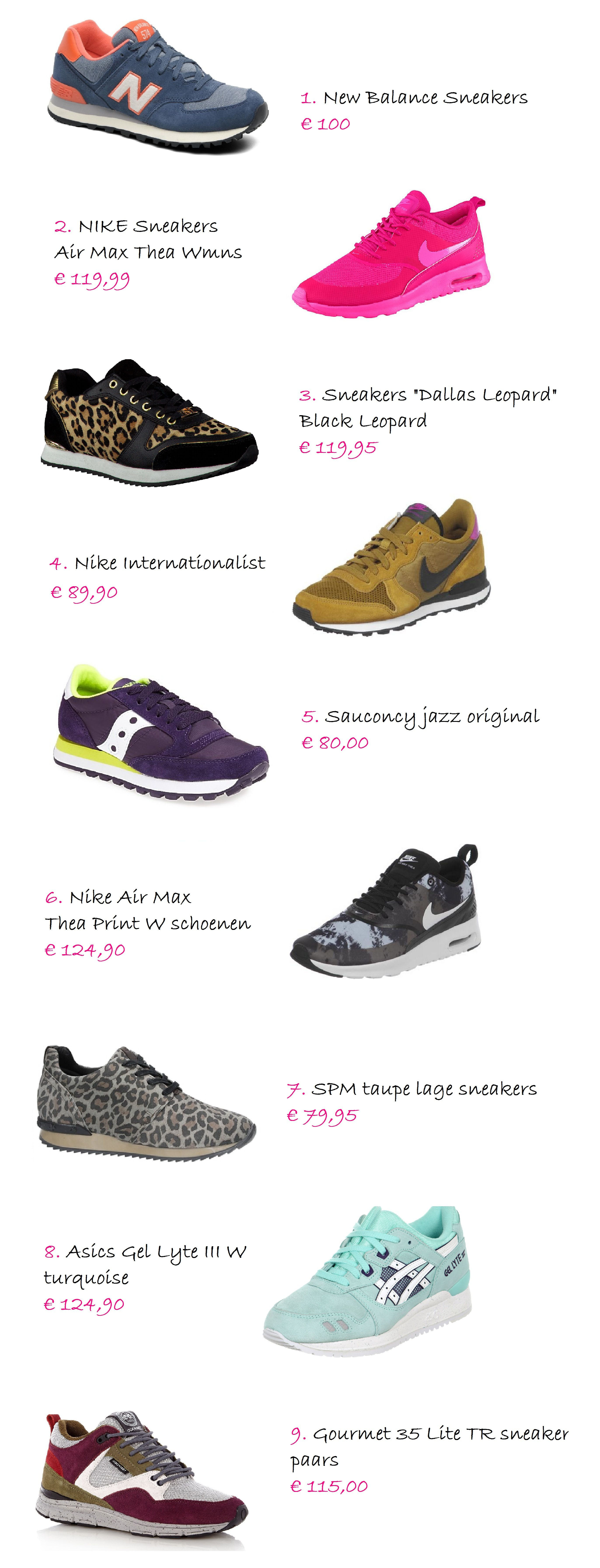 sneakers, gympen, nike, new balance, asics, schoenen, fashion, sneaker, sauconcy, nike air max,, sneakers dallas leopard, sneakers supertrash, nike internationalist, spm sneakers, asics gel lyte, gourmet lite sneaker