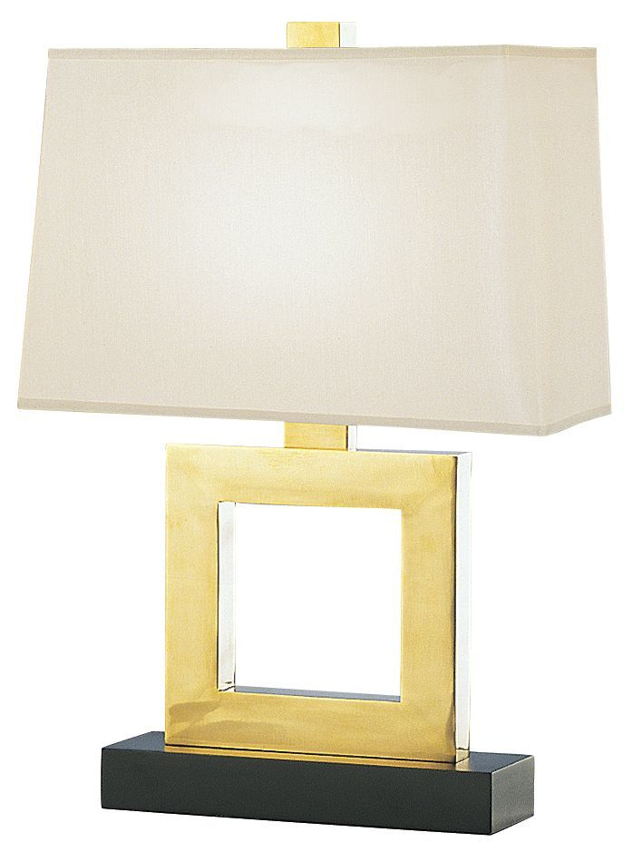 Duncan Natural Brass Rectangle 20 3/4-Inch-H Table Lamp - Euro Style Lighting