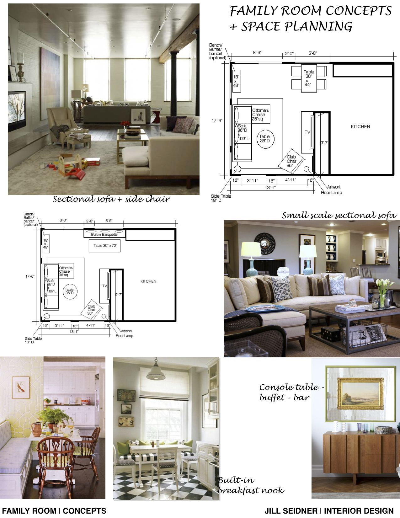 Concept Board And Furniture Layouts For A Family Room Interior Design Layout Interior Design Mood Board Interior Design