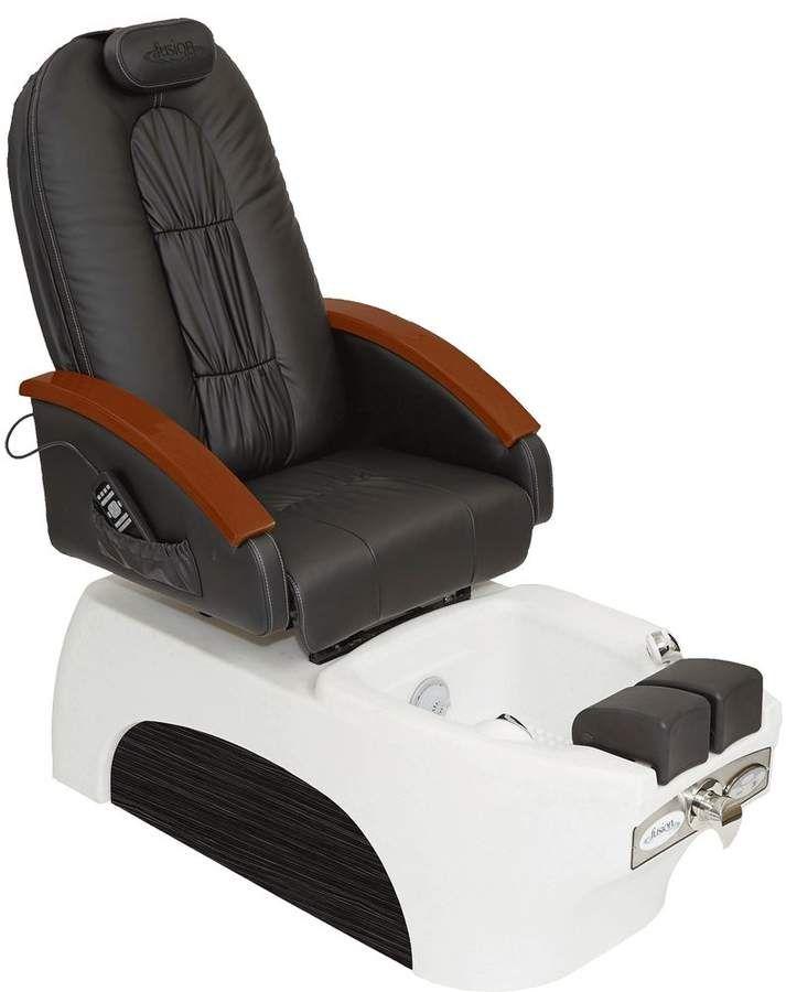 top rated pedicure chairs lay down chair luna w shiatzu pedi blk white products spa fusion spas