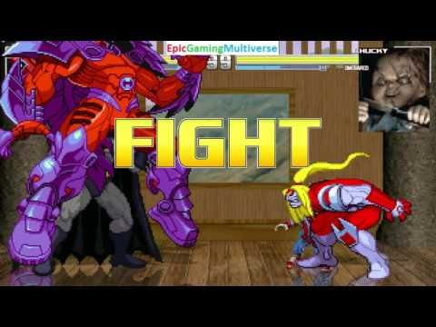 Batman And Onslaught VS Chucky The Killer Doll Omega Red In A MUGEN Match