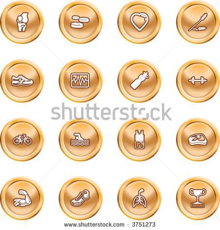 Health Fitness Icon Set Icons Design Stock Vector (Royalty Free) 3751273 -  Health and Fitness Icon...