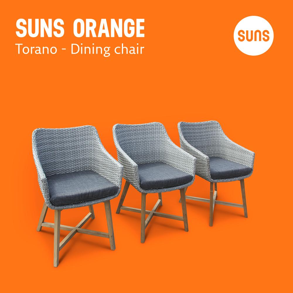 SUNS ORANGE   Torano   Dining Chair   Outdoor Furniture   Tuinmeubelen