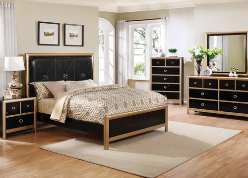 Tremendous 4 Pc Zovatto Black Gold Queen Size Bedroom Set 205341Q Download Free Architecture Designs Pendunizatbritishbridgeorg