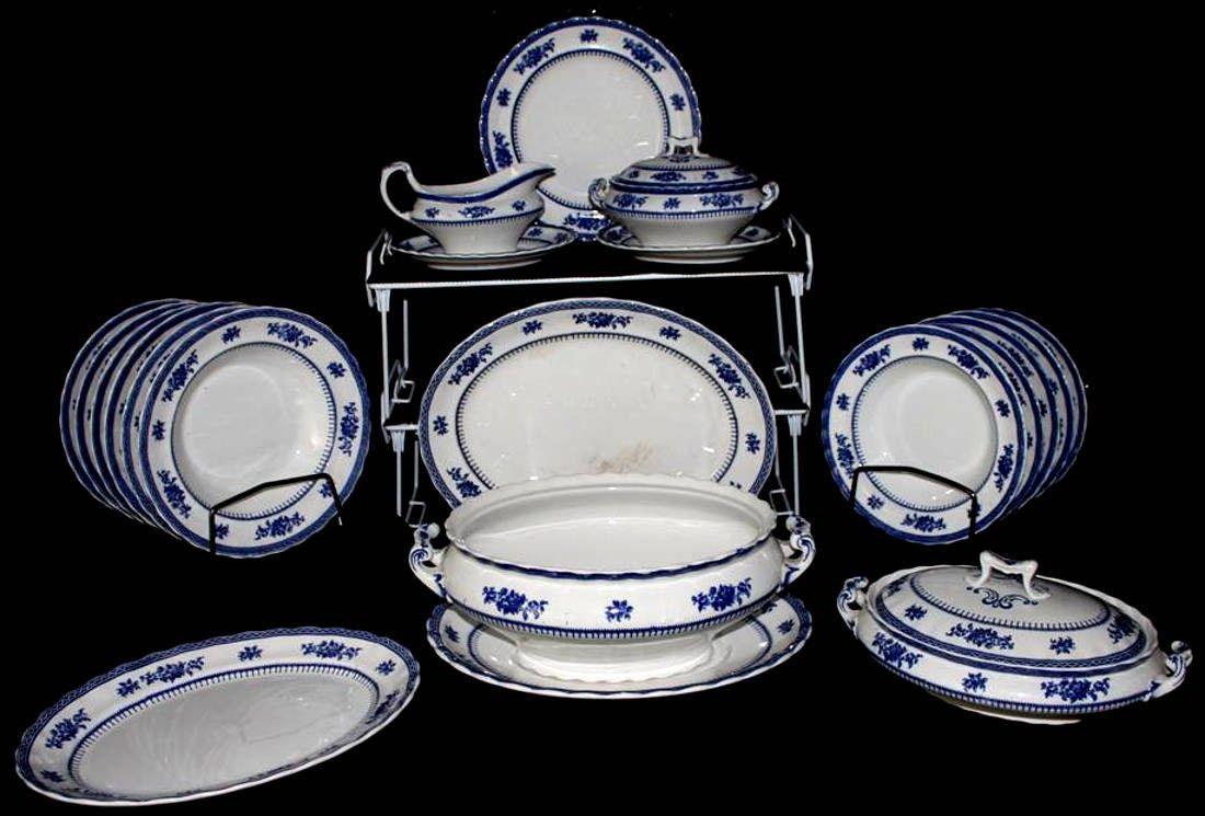 LOSOL Ware Keeling Co Shrewsbury Blue Pattern Fine Bone China Dinnerware C10 & LOSOL Ware Keeling Co Shrewsbury Blue Pattern Fine Bone China ...
