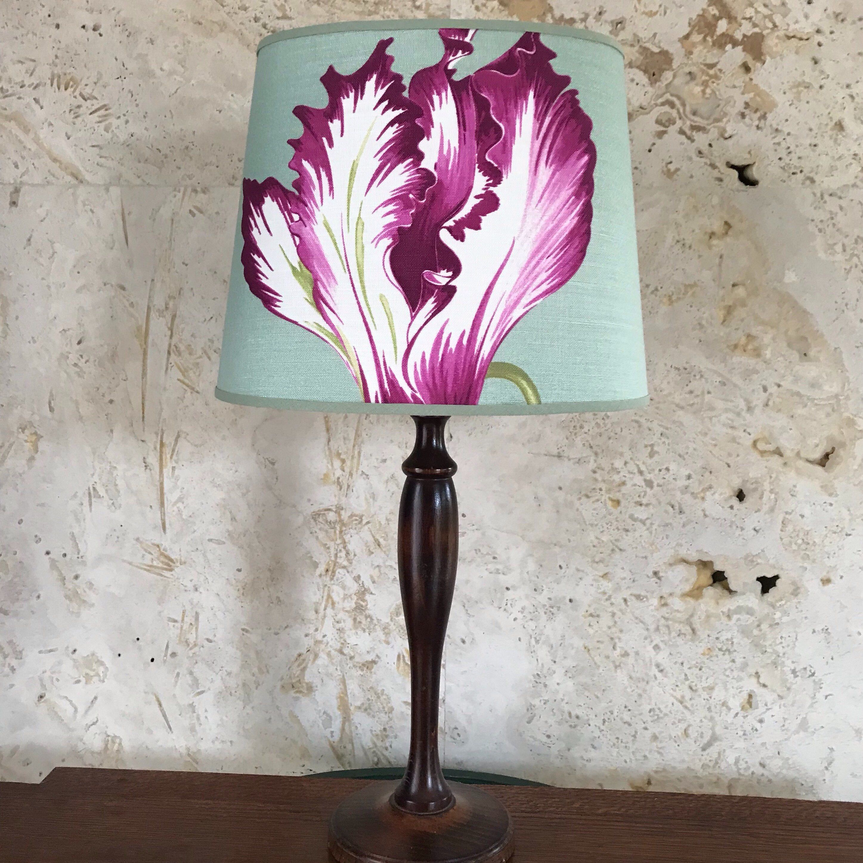 Manuel Canovas Ines Medium Handmade Oval Lampshade Table Lamp By Lampshadeliving On Etsy