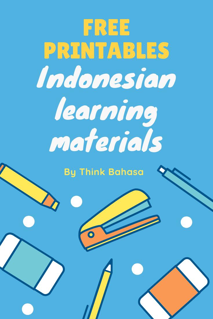 Indonesianprintable Indonesianclassroomprintable