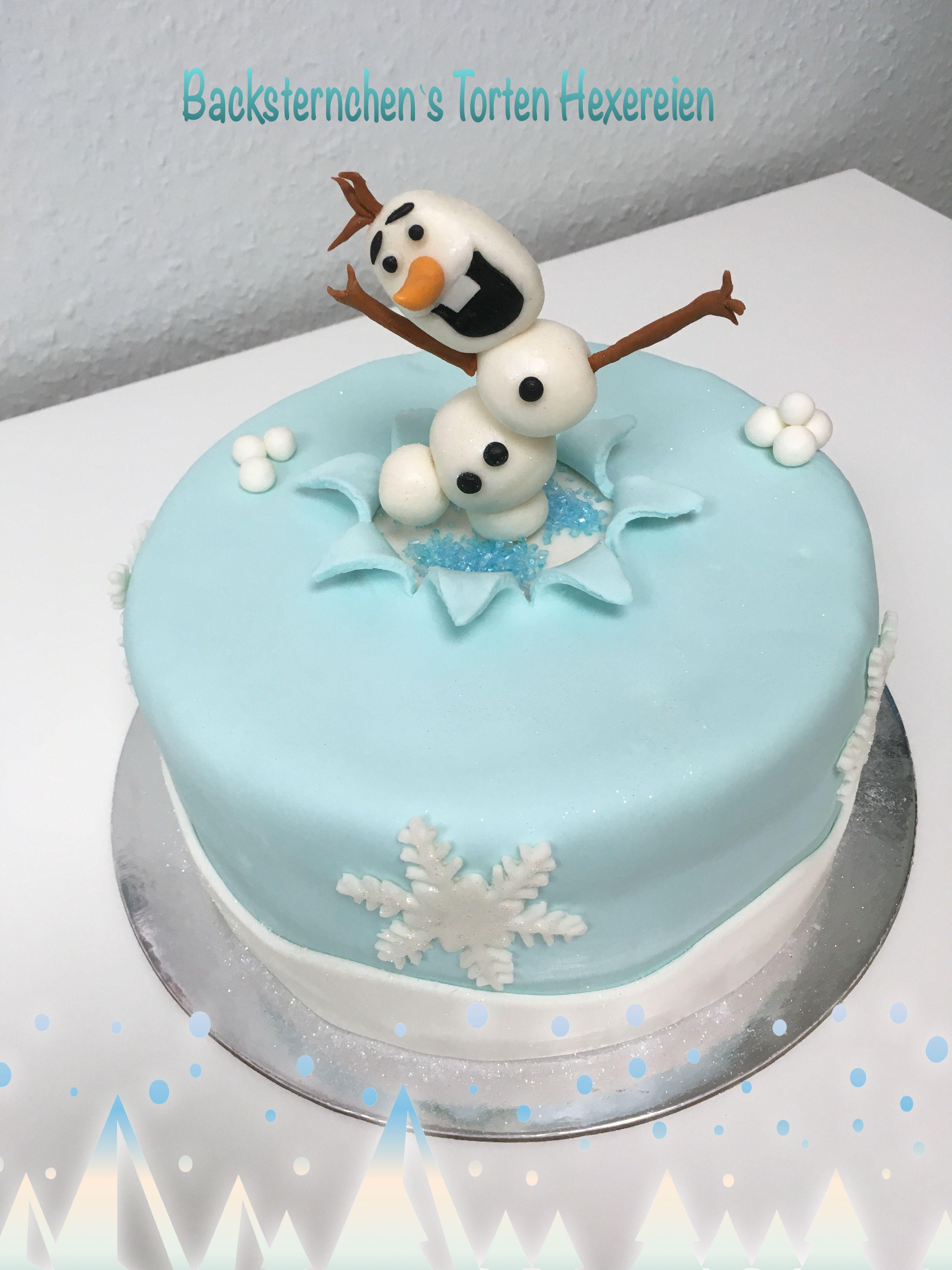Motivtorte Elsa Olaf Explosionstorte Frozen Olaf Fondant Torte