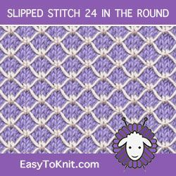 Slip Stitch Knitting 24 in the round - Einfach zu stricken  #einfach #knitting #knittingmodelideas #round #stitch #stricken #slipstitch