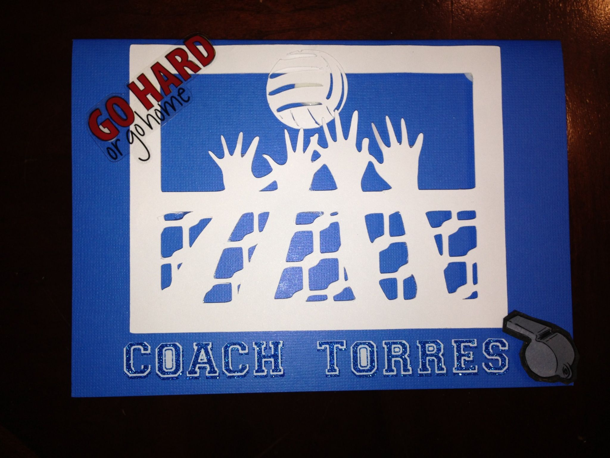 Volleyball Coach Thank You Card Volleyball Coach Gifts Coaching Volleyball Coach Gifts