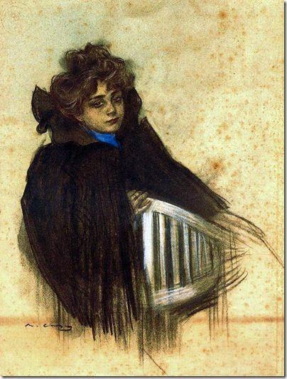 Ramon Casas i Carbo.Molinera Galette_1900