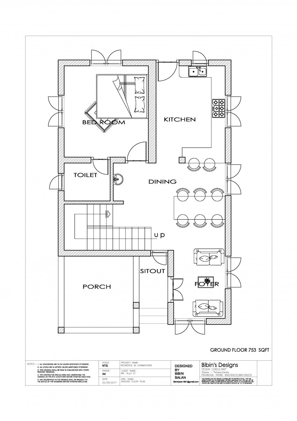 Free Kerala 1131 Sq Ft 2 Bedroom Simple House Plan Free House Plans Two Story House Plans House Plans