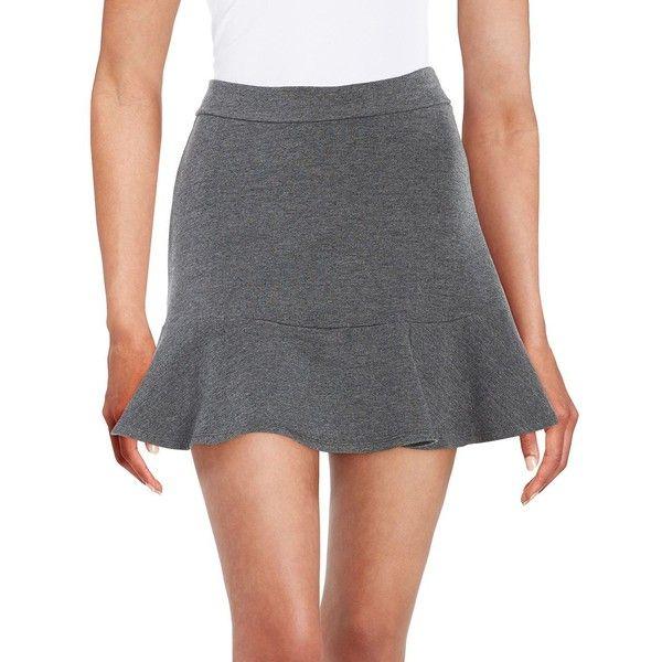 Splendid Knit Circle Skirt ($88) ❤ liked on Polyvore featuring skirts, charcoal, skater skirt, long circle skirt, splendid skirt, circle skirt and long flared skirts