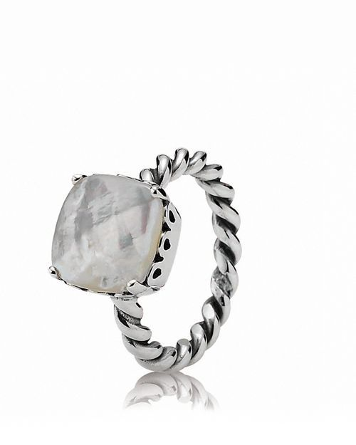cc1cc8043 PANDORA Ring - Sterling Silver & Mother-of-Pearl Path | Jewelry ...