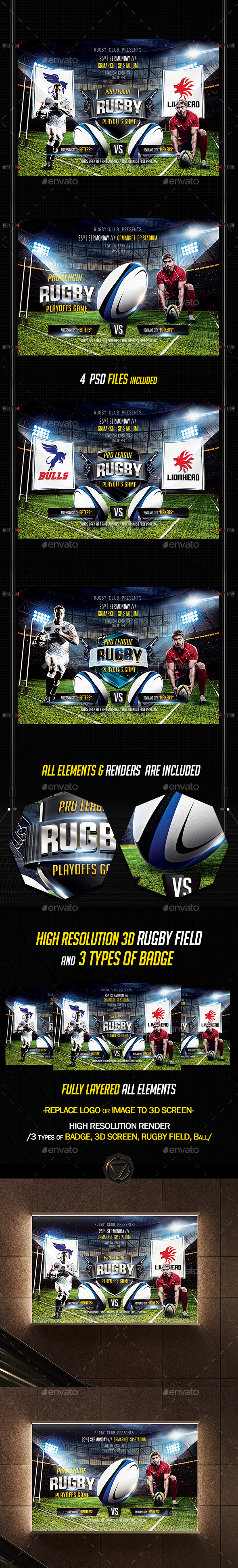 Rugby Flyer Template Psd Rugby Flyer Rugby Players