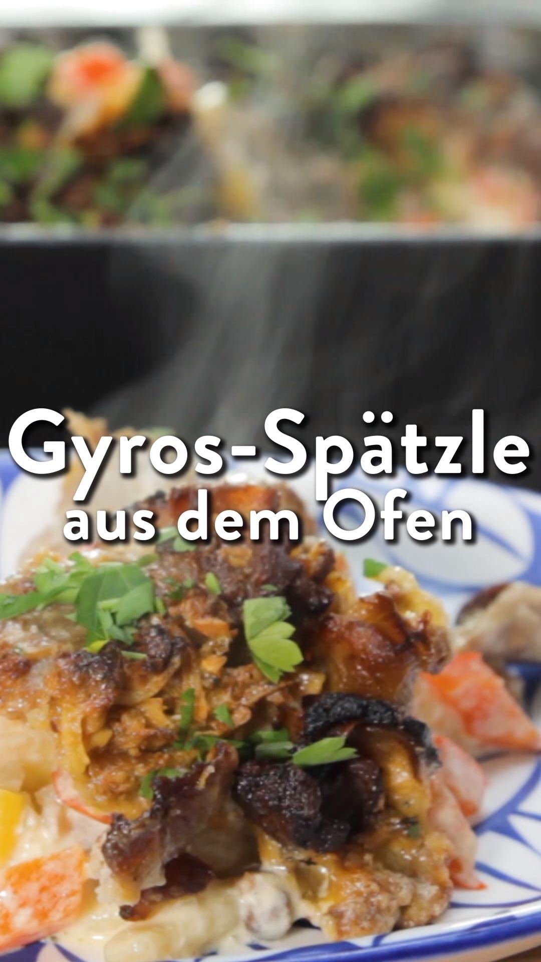 Cremige GYROS-Spätzle