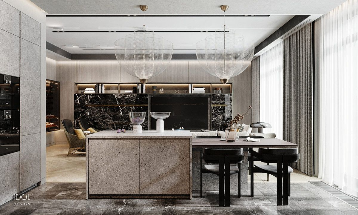 Luxury Modern Living In Grey And Gold   Contemporary furniture ...