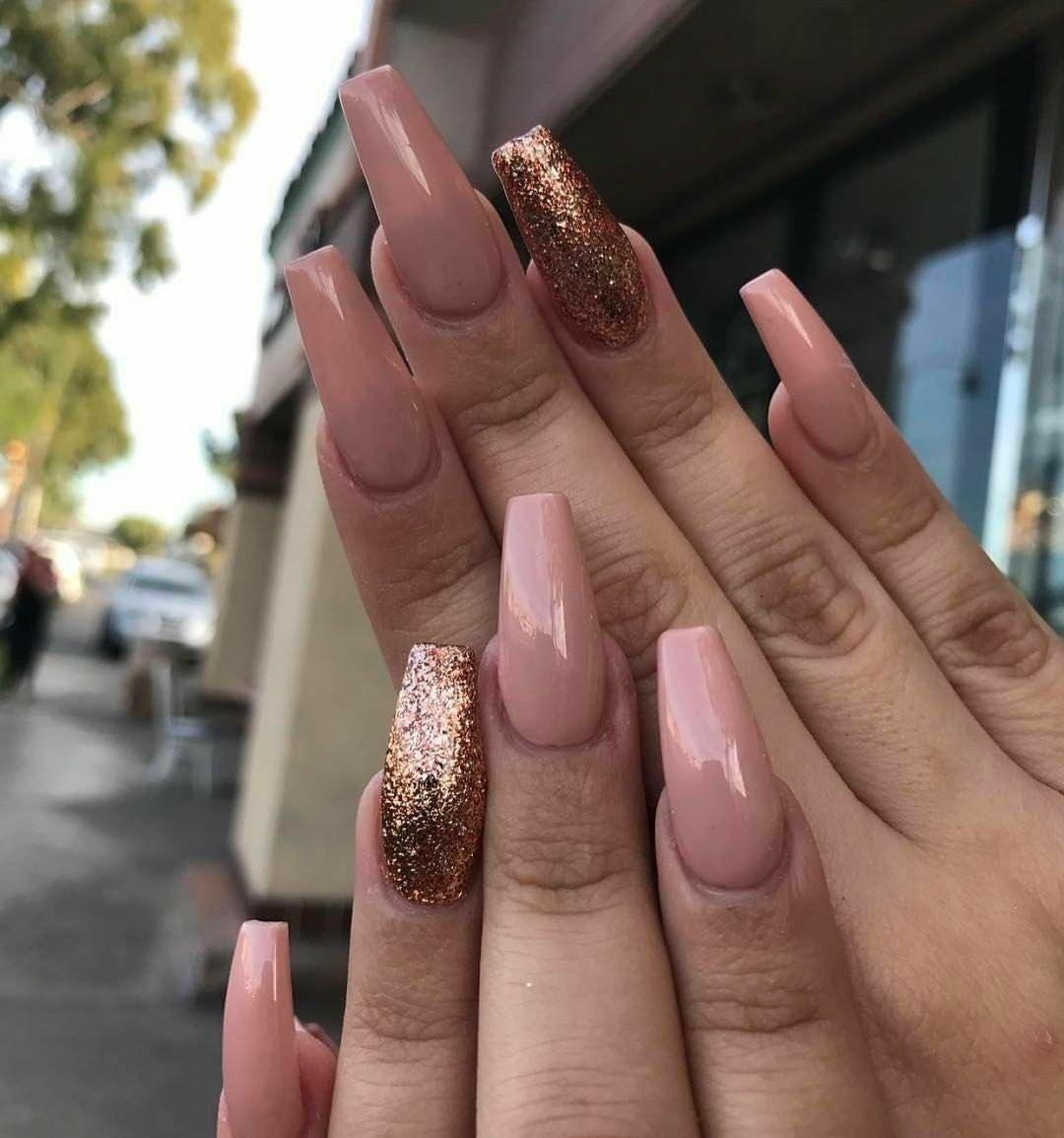 Ballerina Nails. RoseGold Nails. Spring Nails. Acrylic Nails. Gel ...