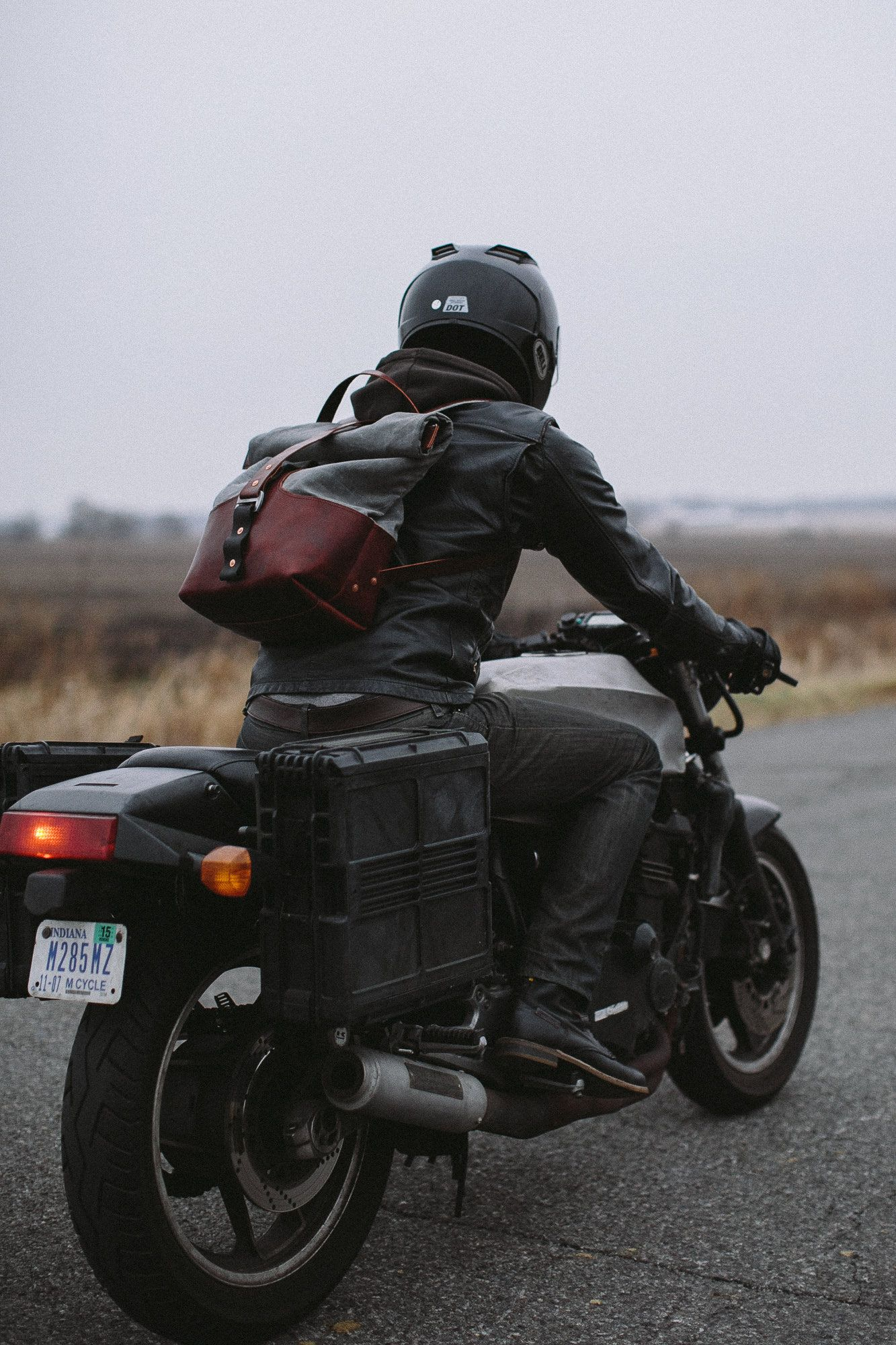 Janus Armoured Moto-Rucksack | Motorcycle leather, Leather ...