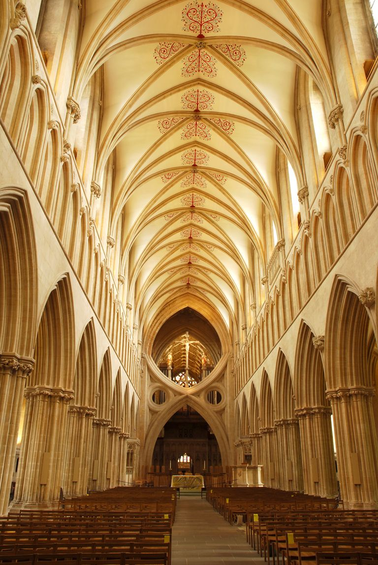 Somerset: Wells Cathedral - a stunning and magical place. A lay line ...