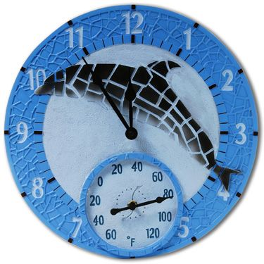 outdoor clock outdoor thermometer
