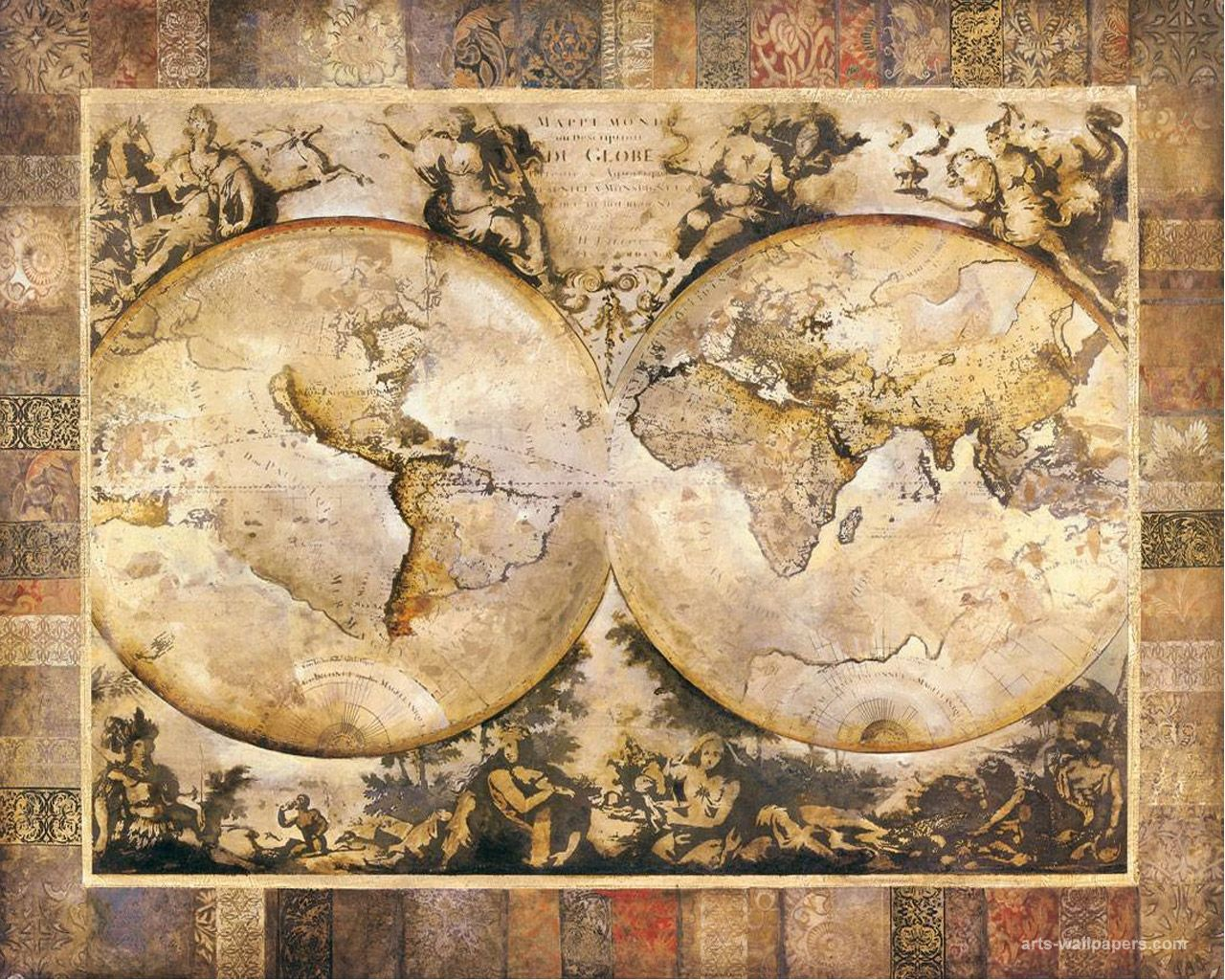 World antique map wallpaper art print poster art wallpapers pictures world antique map wallpaper art print poster art wallpapers pictures gumiabroncs Image collections