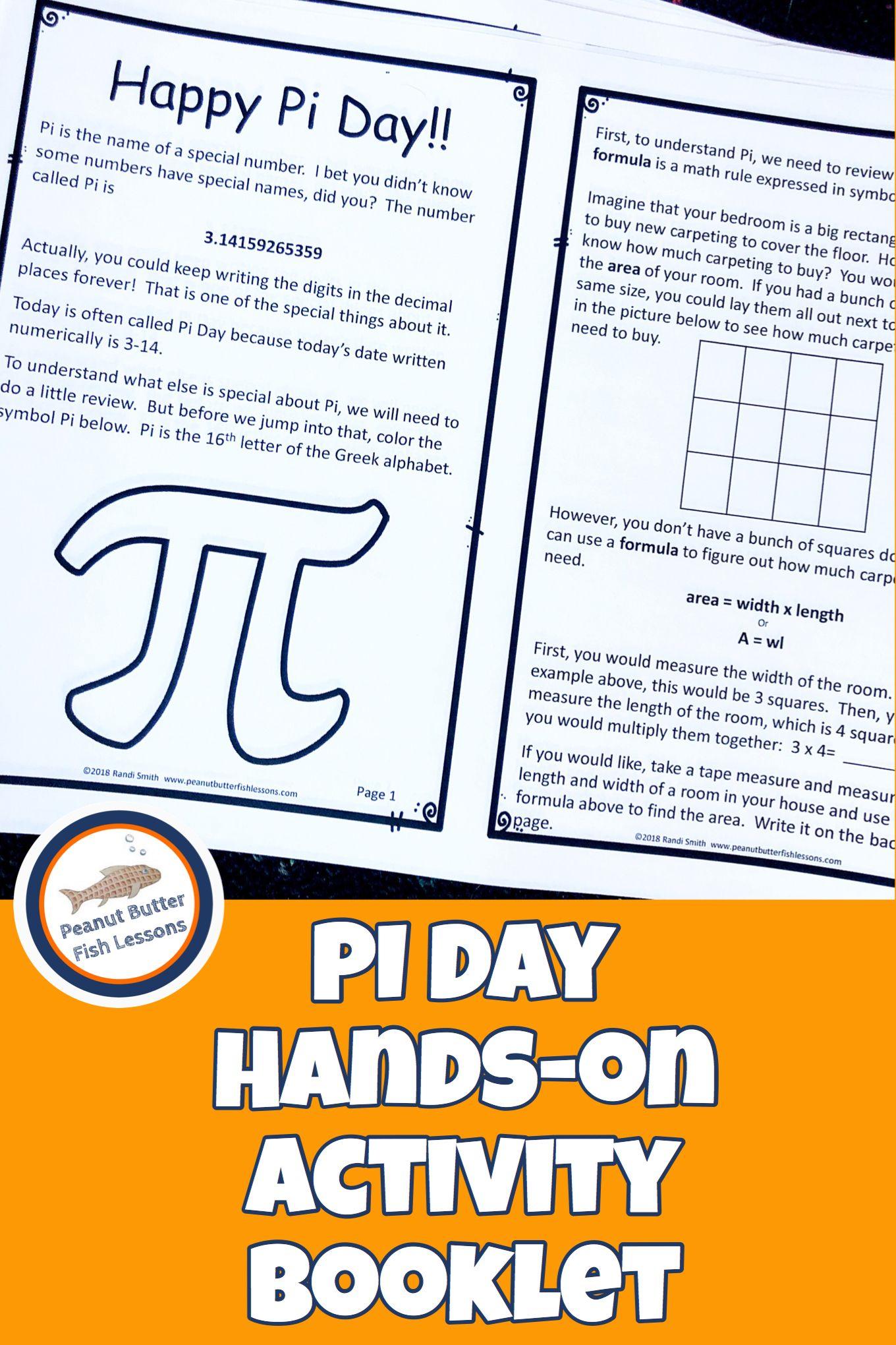 Pi Day Hands On Activity Booklet Pi Activities Homeschool Math Hands On Activities [ 2040 x 1360 Pixel ]
