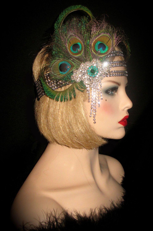 Peacock Passion Gatsby Peacock Headband Art Deco
