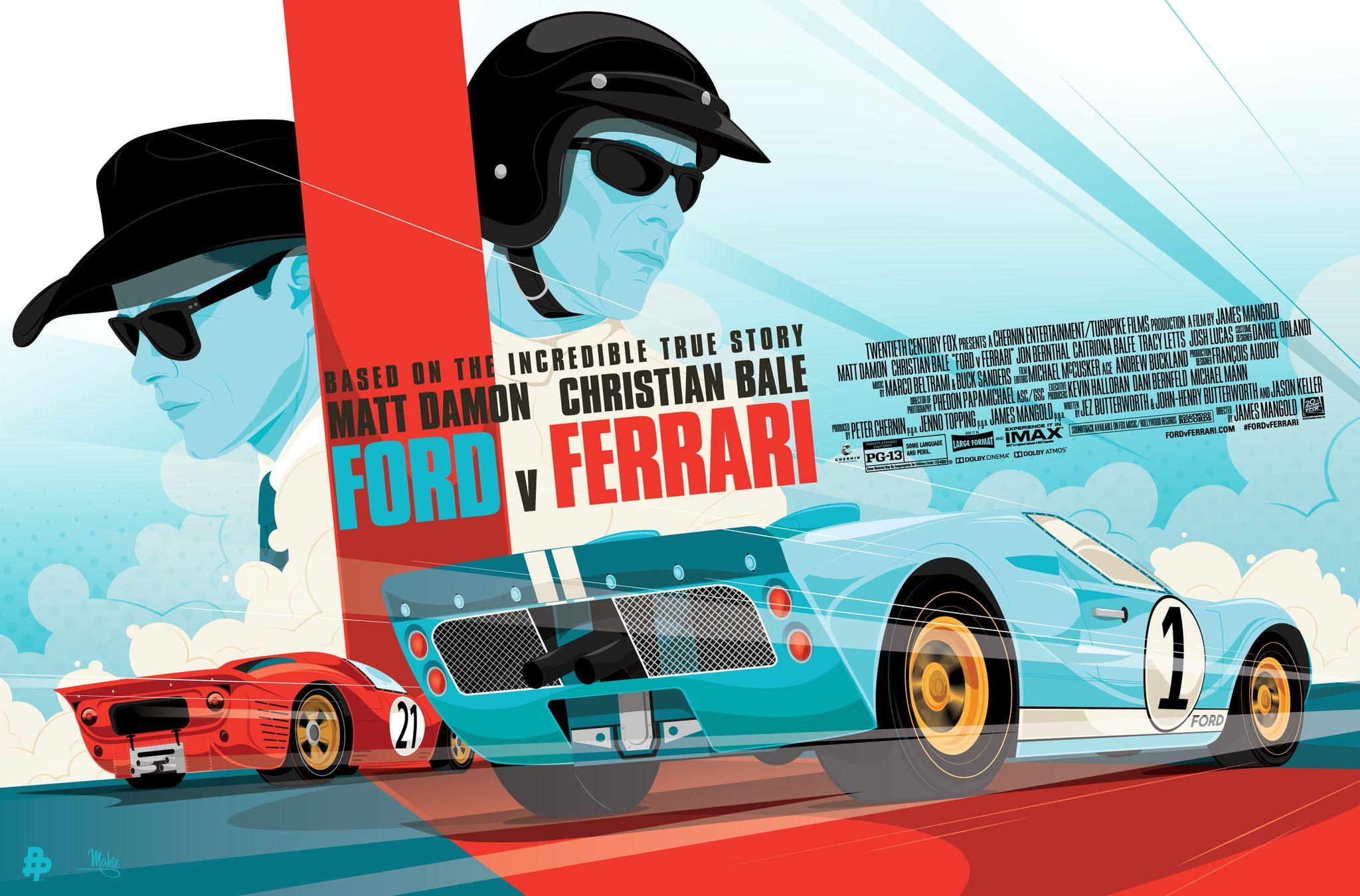 Ford V Ferrari Ferrari Poster Ferrari Ford