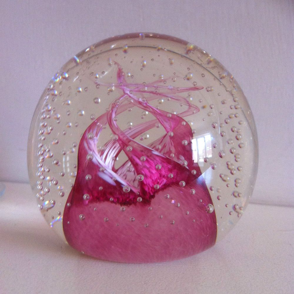 Caithness Art Glass Paperweight / Cauldron Ruby / Innes Burns ...