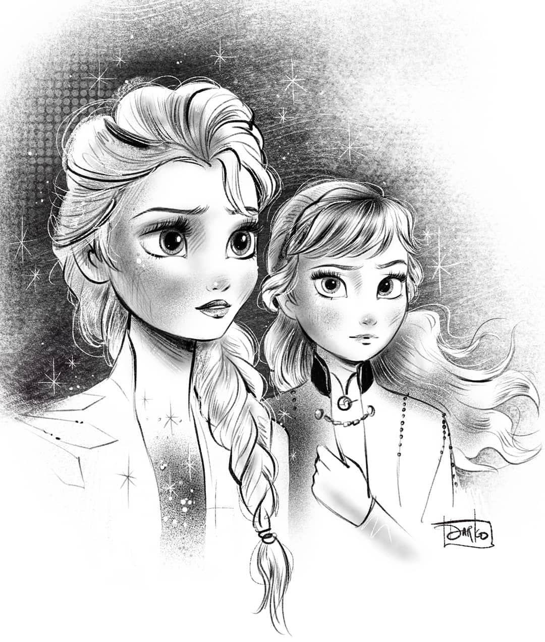 2 065 Likes 16 Comments Darko Dordevic Darkodark On Instagram Disneyfrozen Frozen Elsa Prin Disney Skizzen Disney Zeichnen Disney Bilder