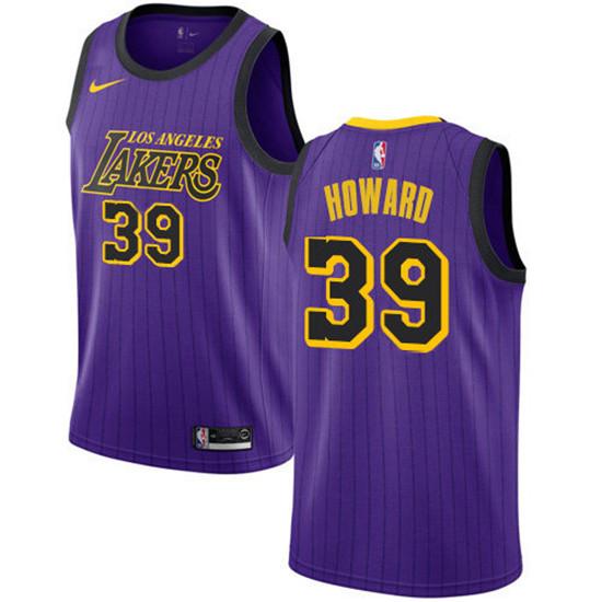 2020 Nike Lakers #39 Dwight Howard Purple NBA Swingman City ...