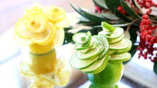 - Art In Fruit & Vegetable Carving Lessons: Art In Lime Rose Flower | Fruit Carving Garnish | ...