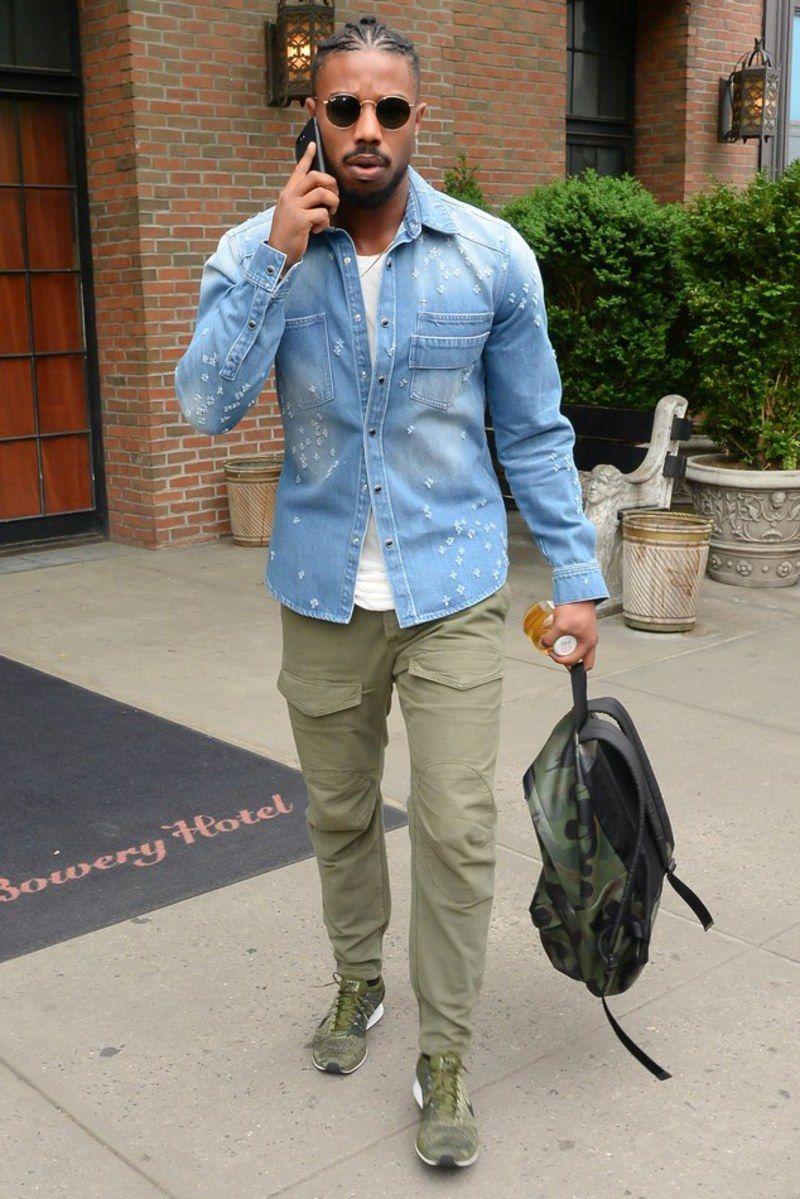 271d62a8edb7 Michael B. Jordan Has Spring Weekend Style Locked Down  menswear  style