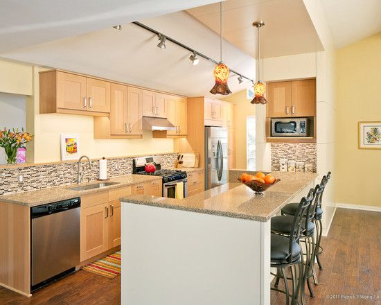 Light Maple Kitchen Cabinets maple cabinets | Modern kitchen design, Modern kitchen, Kitchen design