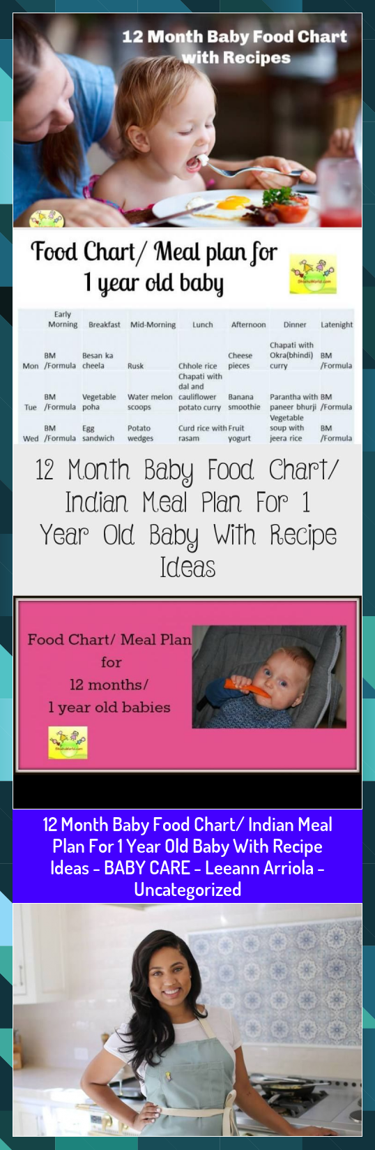 12 Month Baby Food Chart/ Indian Meal Plan For 1 Year Old Baby With Recipe Ideas - BABY CARE - Leeann Arriola - Uncategorized #Arriola #baby #Care #chart #Food #Ideas #Indian #Leeann #Meal #Month #Plan #Recipe #Year