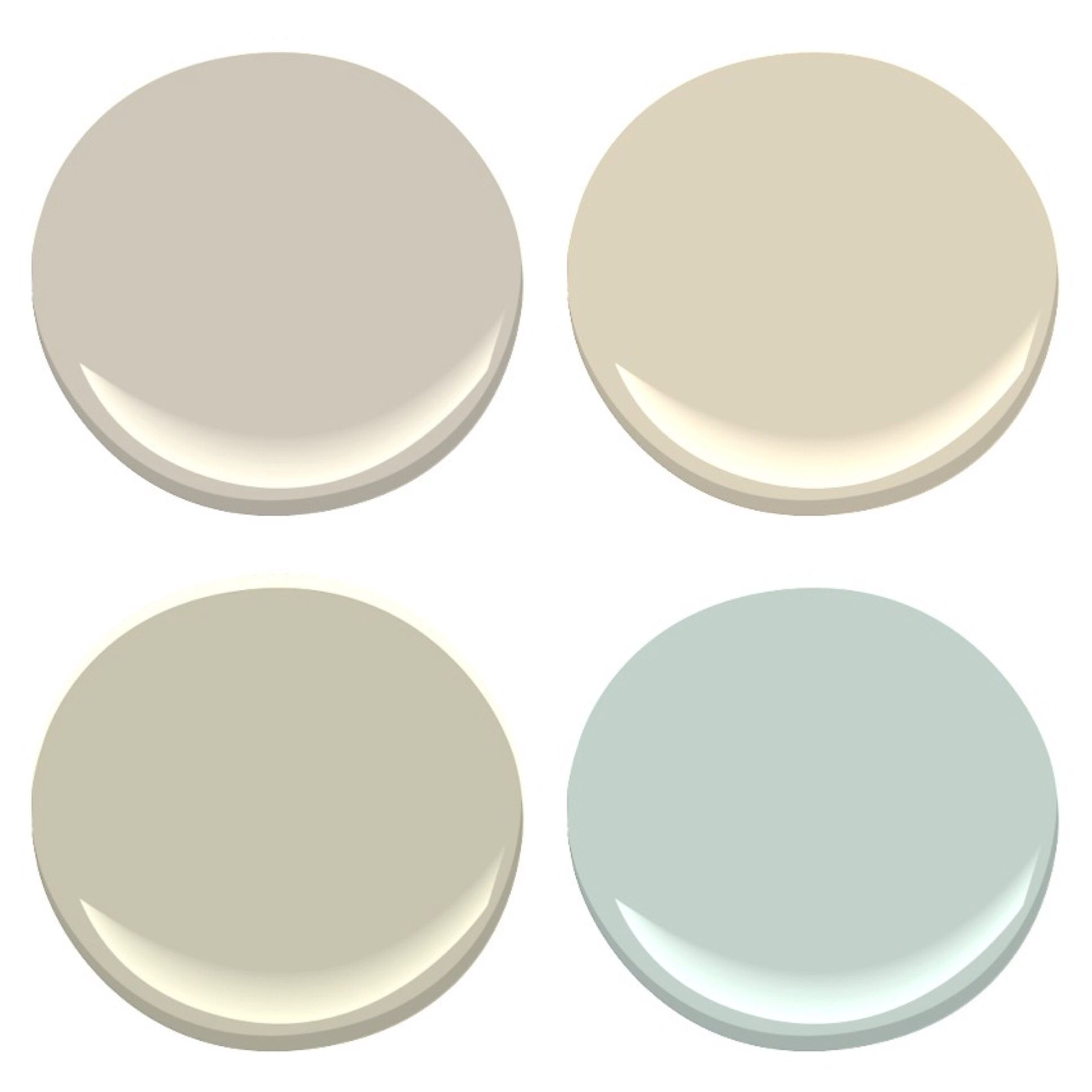 New House Neutral Paint Palette Benjamin Moore Revere Pewter Manchester Tan