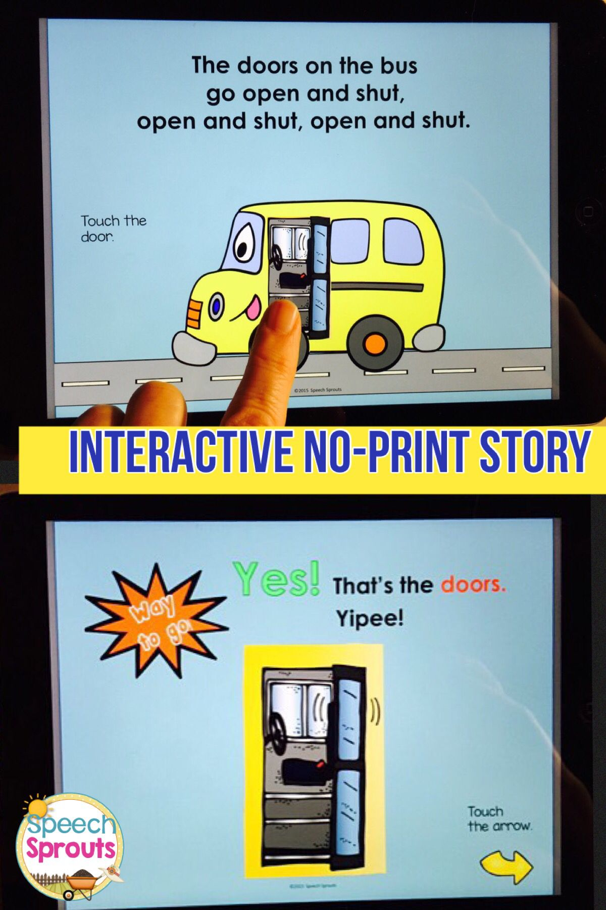 Wheels On The Bus No Print Speech Therapy Interactive