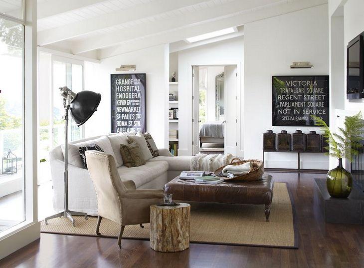 Dom V Kalifornii Farm House Living Room Modern Country Living Room Rustic Living Room