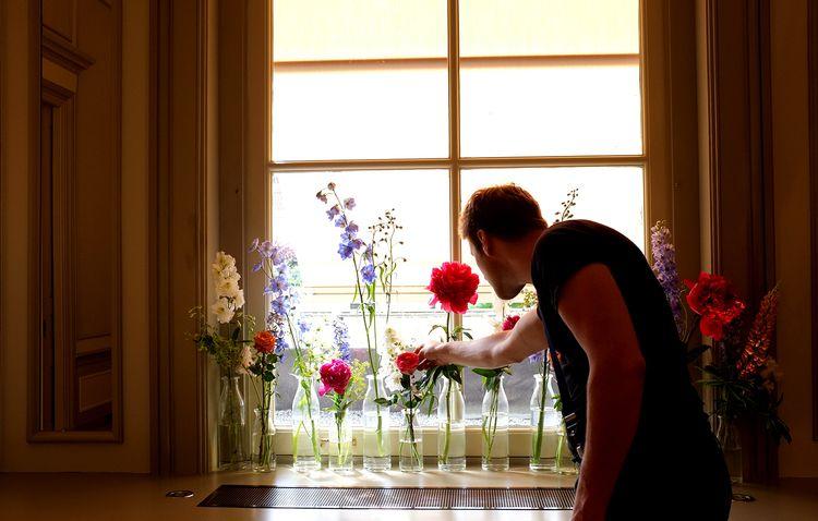 Waldorf Astoria, Amsterdam, apbloem, florist, bloemist, bottles,