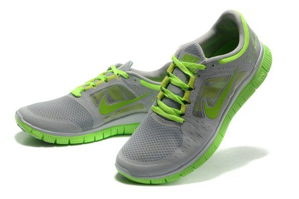 Buy 2014 Nike Free Run 5.0 V3 Men Shoes Grey Green $78.68