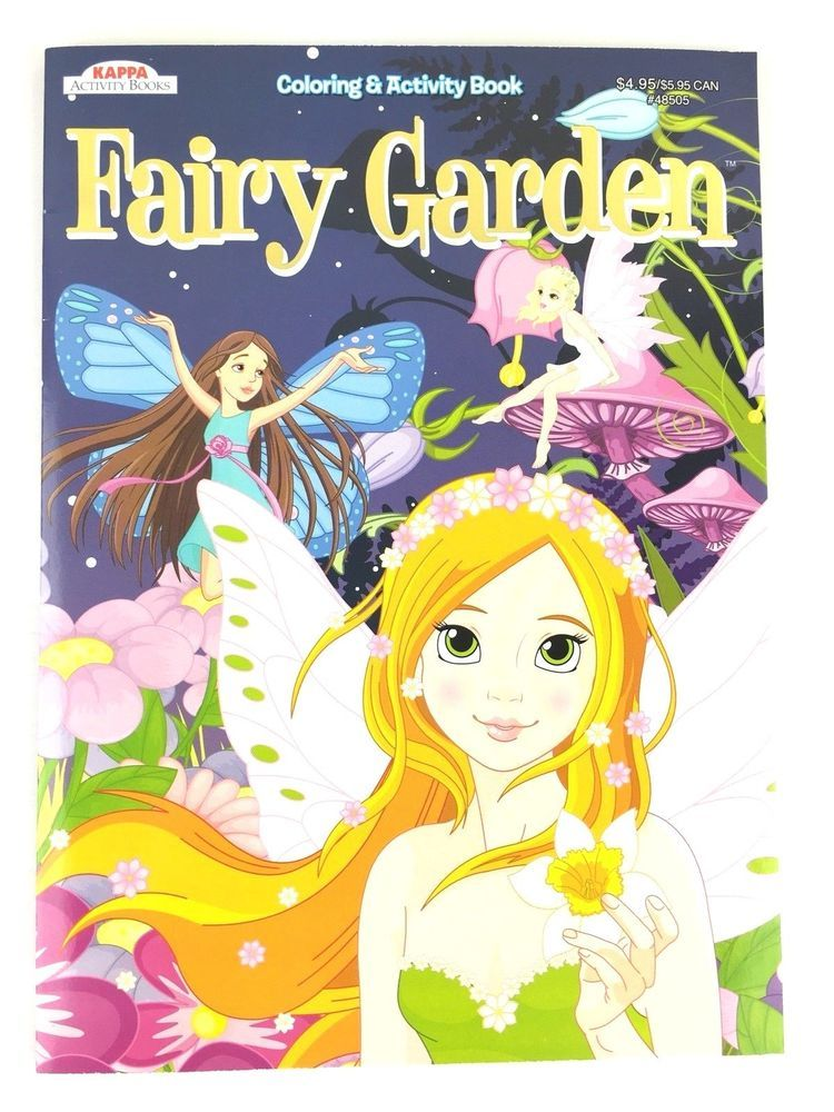 Details about Fairy Garden Coloring \u0026 Activity Book for Kids