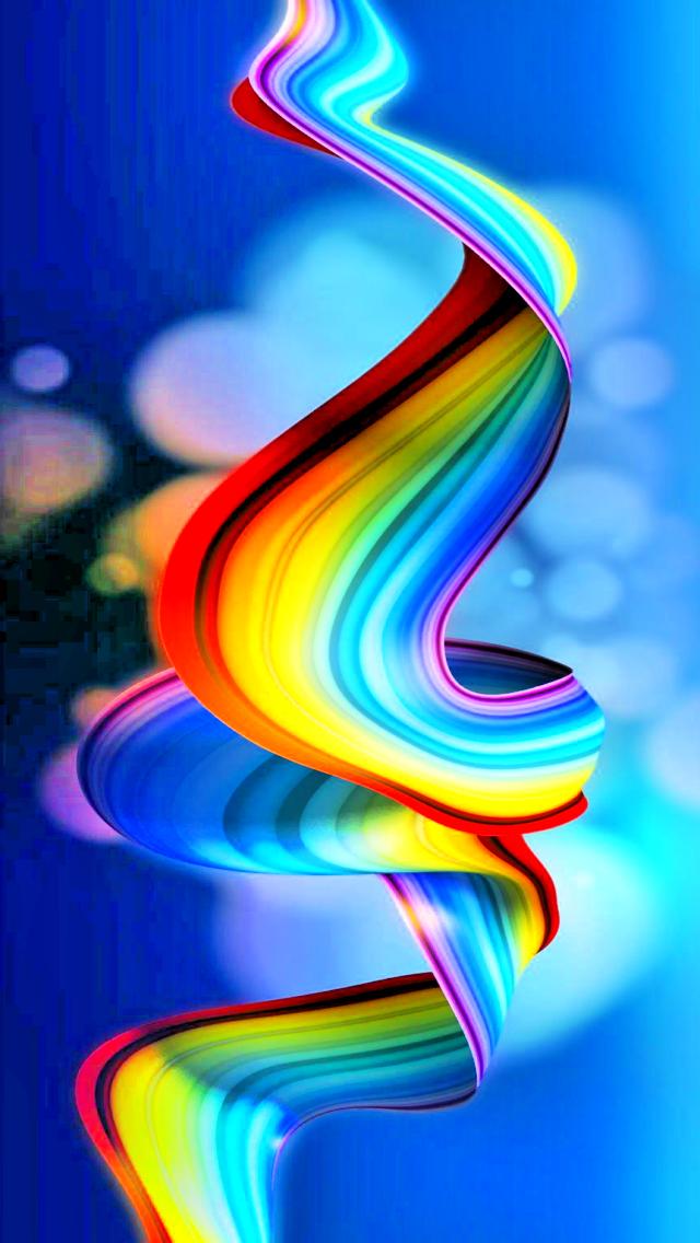 Cool Rainbow Ribbon Iphone Wallpapers Abstract Tap To See More Mobile9 Abstract Iphone Wallpaper Rainbow Ribbon